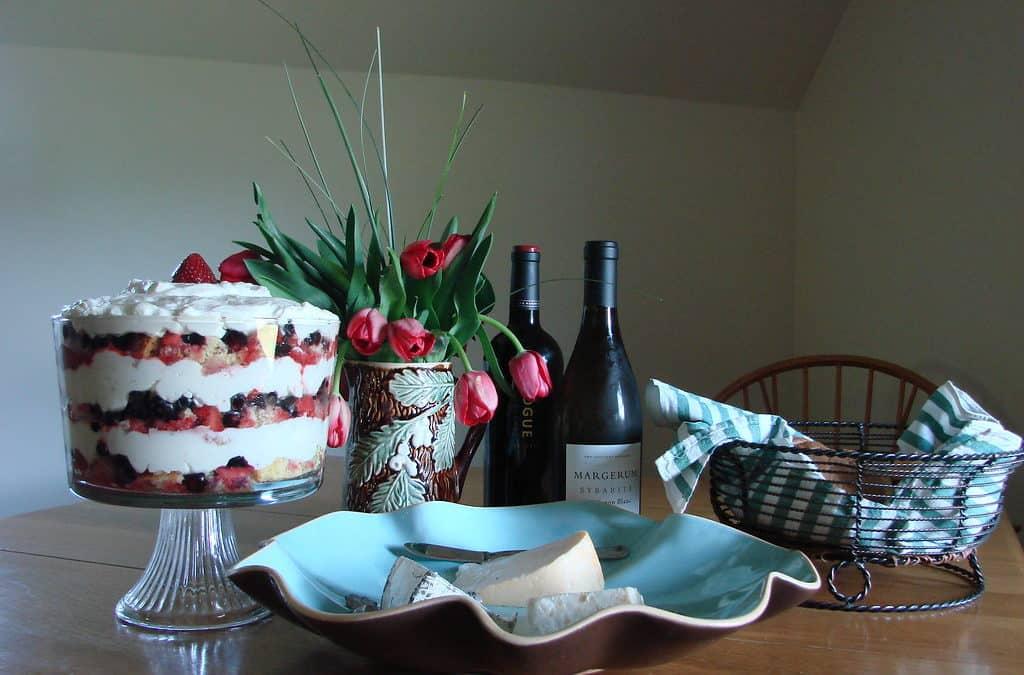 Fresh Berry Trifle, A Scotland Delight